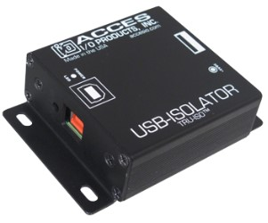 Access I/O USB-ISOLATOR Features 4kV Isolation &Industrial Temperature Operation
