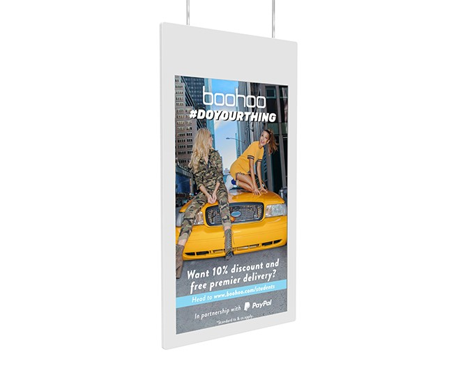 "43"" Hanging Double-Sided Window Display"
