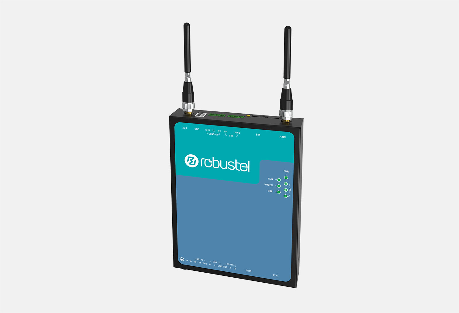 Robustel R3010 Industrial Cellular IoT Gateway.