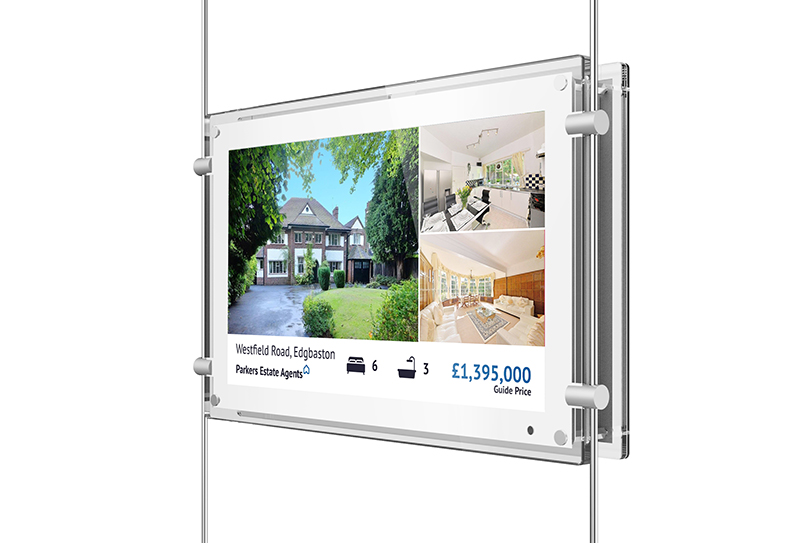 15 Inch Rod Powered High Brightness Estate Agent LED Displays
