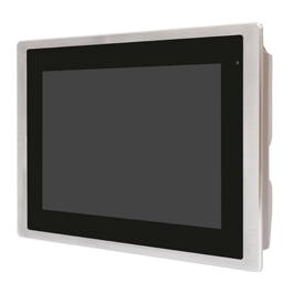 "Aplex Technology FABS-110 10.1"" Flat Front Panel IP66/IP69K Stainless Monitor"