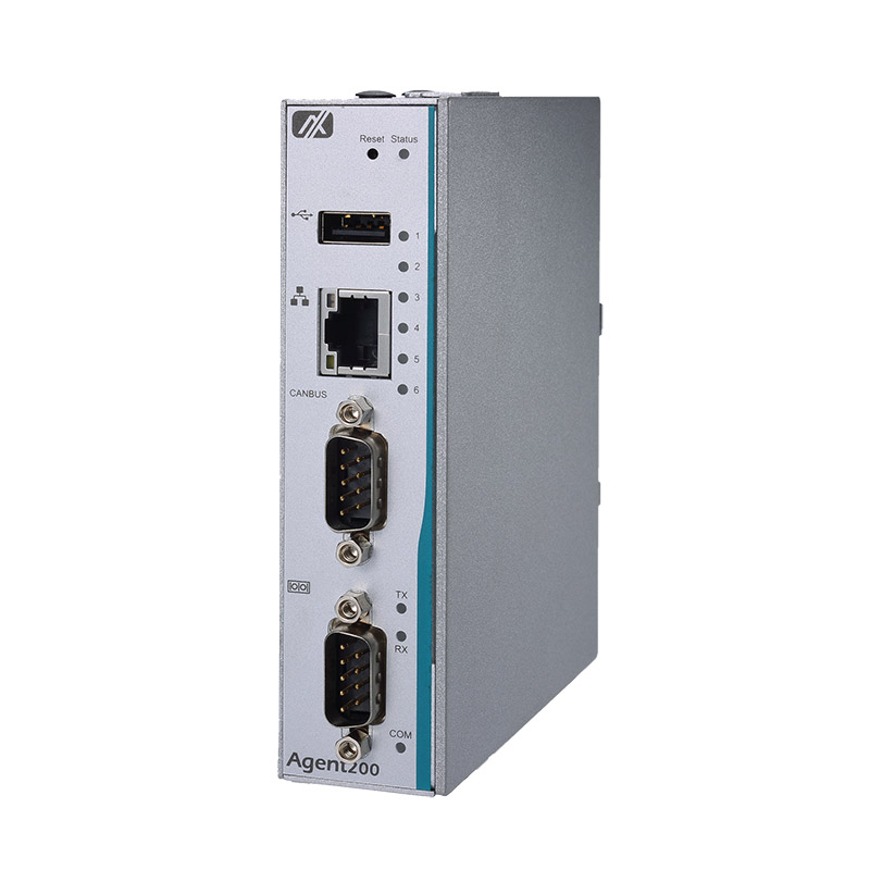Axiomtek Agent200-FL-DC Robust RISC-based DIN-rail Fanless Embedded PC