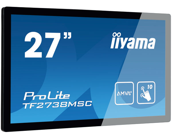 "iiyama TF2738MSC-B1 27"" 10pt Open Frame Touch Monitor With Edge-To-Edge Glass"