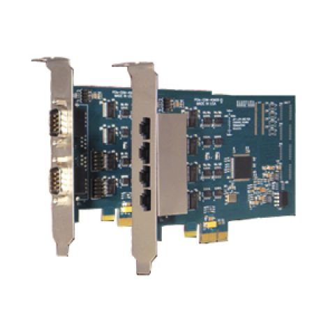 2 or 4-port PCI Express RS-232 Serial Communication Card (DB9 or RJ45)