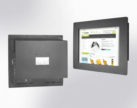 "15"" IP65 Panel Mount Monitor Wide Temp & Wide Viewing Angle (1024x768)"
