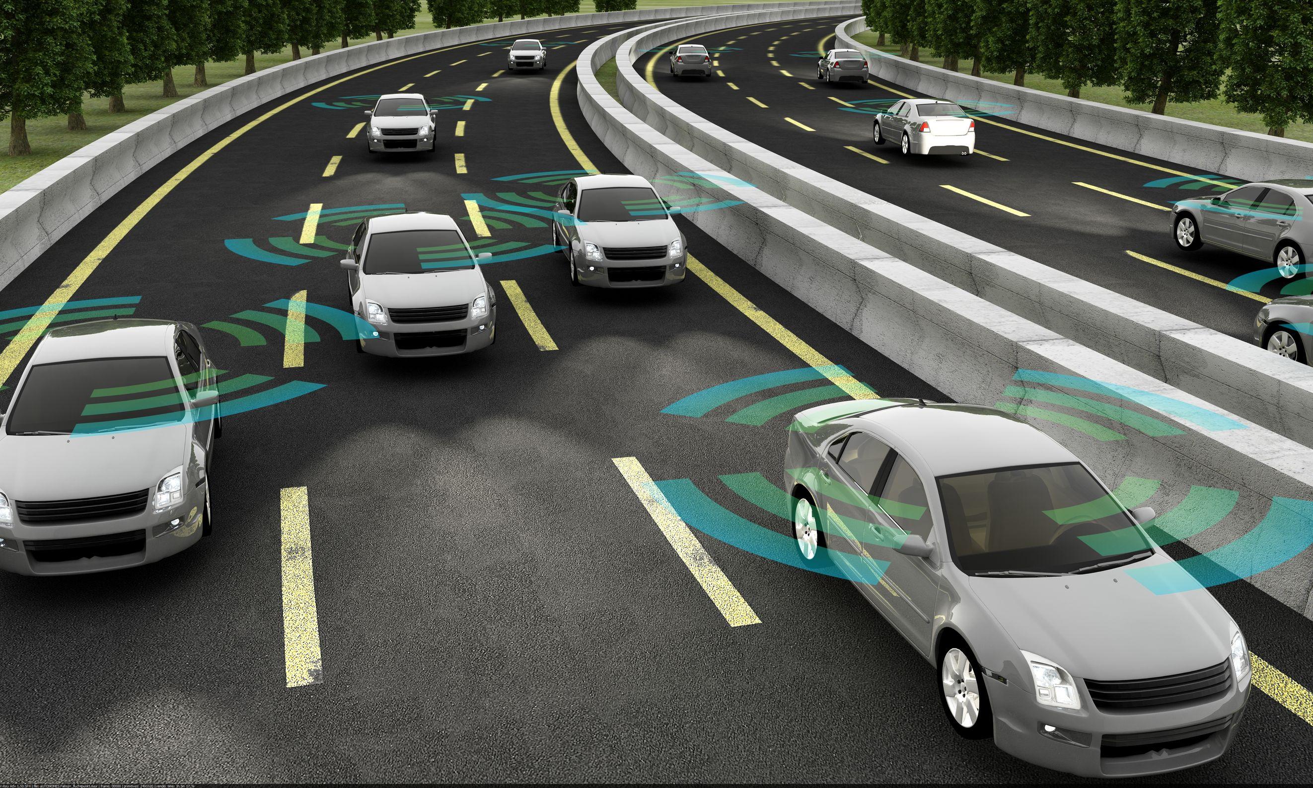 Autonomous vehicles driving