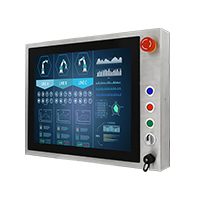 "Winmate R15L100-SPC3-B 15"" Full IP65, PCAP Touch Stainless Steel Display"