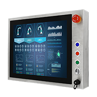 "Winmate R19L100-SPM1-B 19"" Full IP65, PCAP Touch Stainless Steel Display"