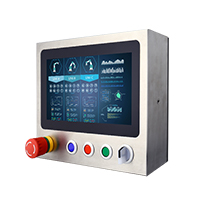 "Winmate W10L100-SPH-1-B 10.1"" Full IP65, PCAP Touch Stainless Steel Display"