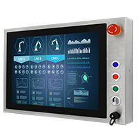 "Winmate W22L100-SPA3-B 21.5"" Full IP65, PCAP Touch Stainless Steel Display"