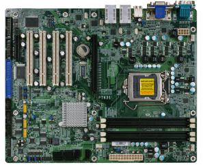 ATX Intel Q57 Core i3 i5 i7 with 1 PCIe[x16],[x4], 4 PCI & 4 LAN