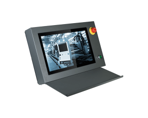 "DFI AME185 18.5"" Industrial PCAP Touch Monitor with Keyboard Holder"