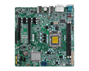 Low Cost Micro ATX Intel H61 i3/i5/i7 Motherboard with 2 PCIe[x16]