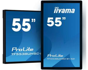 "iiyama TF5538UHSC-B1AG 55"" 12pt Open Frame PCAP Touch with Edge-To-Edge Glass"