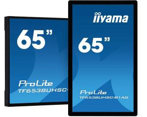 "iiyama TF6538UHSC-B1AG 65"" 50pt Open Frame PCAP Touch With Edge-To-Edge Glass"