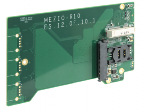 Neousys MezIO R10 2.5 SATA HDD SSD and Mini PCIe Module