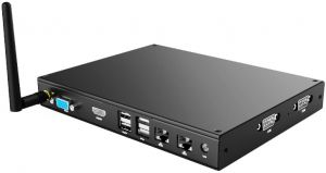 Fanless Embedded PC w/Intel Celeron & 4K Output