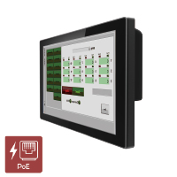 "Winmate R12L100-PCM2-PoE 12.1"" IP65 Industrial PoE Monitor with P-CAP Touch"