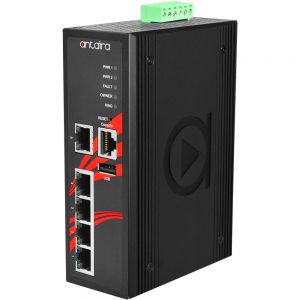 5 Port 10/100TX Managed Industrial Ethernet Switch Ext Temp