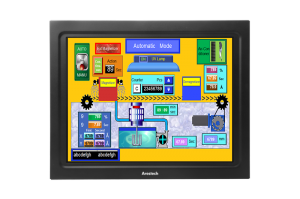 "12"" Panel Mount Touchscreen Monitor Wide Temp (1024x768)"
