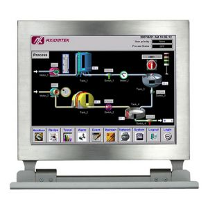"GOT812LR-834 12.1"" XGA Full IP66 Stainless Steel Sunlight Readable Panel PC"